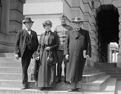 Champ Clark, Genevieve Clark and Bennett Clark on steps of the Capitol